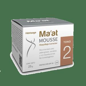 Maquillaje corrector para pieles grasas, acneicas o sensibles Ma'at Mousse