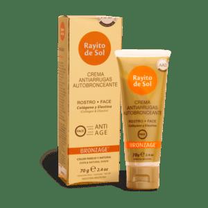 Crema bronceadora para rostro Antiage de Rayito de Sol